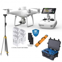 DJI Phantom 4 RTK w/ Base Station + Case, Extra Batteries & More